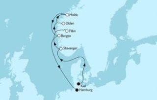 Neue Mein Schiff 1 Norwegen mit Bergen 2 © TUI Cruises