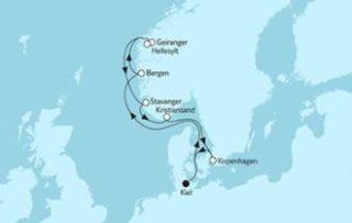 Neue Mein Schiff 1 Norwegen mit Geirangerfjord 3 © TUI Cruises