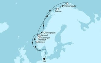 Neue Mein Schiff 1 Norwegen mit Nordkap 3 © TUI Cruises