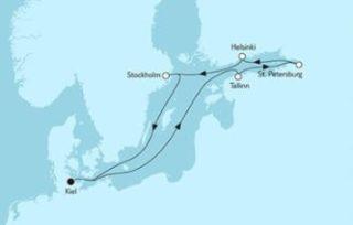 Neue Mein Schiff 1 Ostsee mit St. Petersburg 1 © TUI Cruises