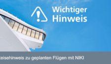 AIDA Kreuzfahrten: Informationen zu NIKI Flügen