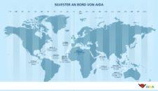 Hier sind die AIDA Schiffe an Silvester 2017: Weltkarte