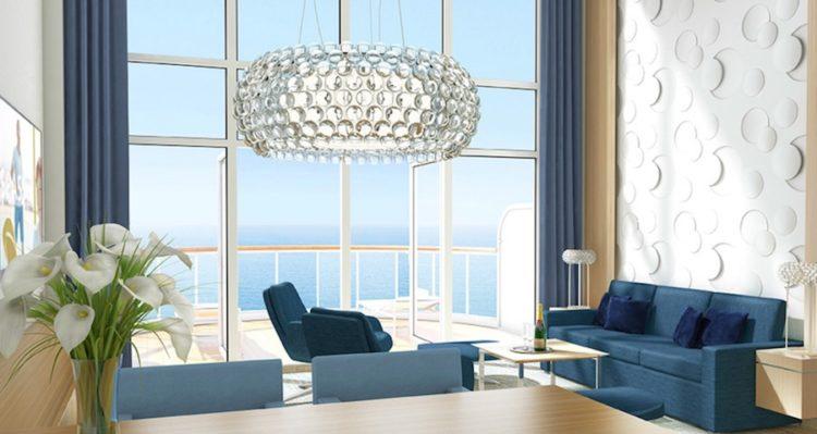 Wohnbereich der AIDAnova Penthouse-Suite / © AIDA Cruises