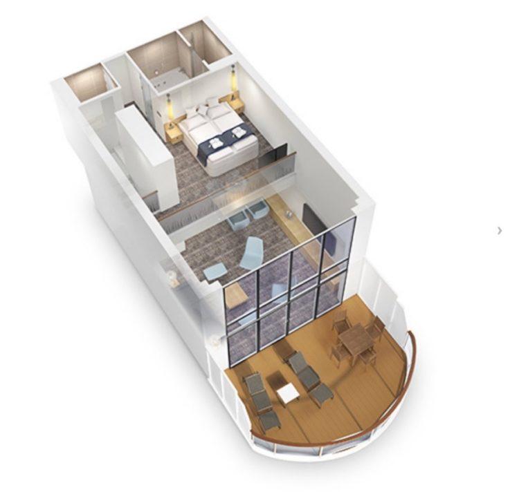 Grundriss der AIDAnova Penthouse-Suite / © AIDA Cruises