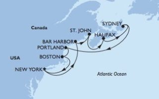 MSC Meraviglia Kanada & Neuengland © MSC Kreuzfahrten