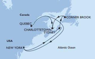 MSC Meraviglia Kanadische Küste ab New York © MSC Kreuzfahrten