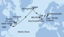MSC Meraviglia: Transatlantik Kreuzfahrt von Kiel nach New York