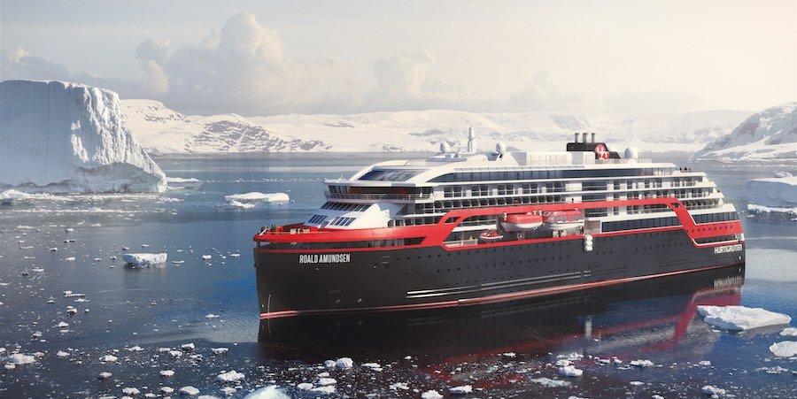 Roald Amundsen startet ab Hamburg nach Norwegen / © Hurtigruten