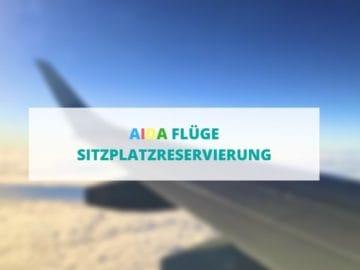 Sitzplatzreservierung für AIDA Flüge