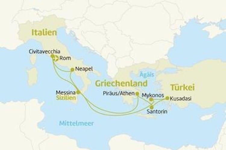 Jewel of the Seas - Östliches Mittelmeer / © Berge & Meer