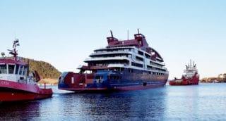 Die Le Laperouse wurde aus dem Mittelmeer nach Norwegen verholt zur Endausrüstung und der Fertigstellung / © PONANT