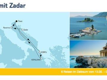 Mein Schiff 2 - Adria mit Zadar / ©TUI Cruises
