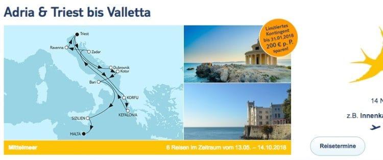 Mein Schiff 2 - Adria und Triest bis Valletta / ©TUI Cruises