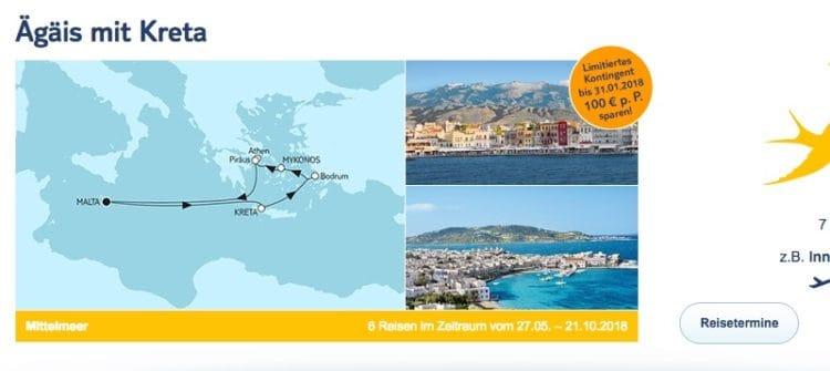 Mein Schiff 2 Ägäis mit Kreta / © TUI Cruises