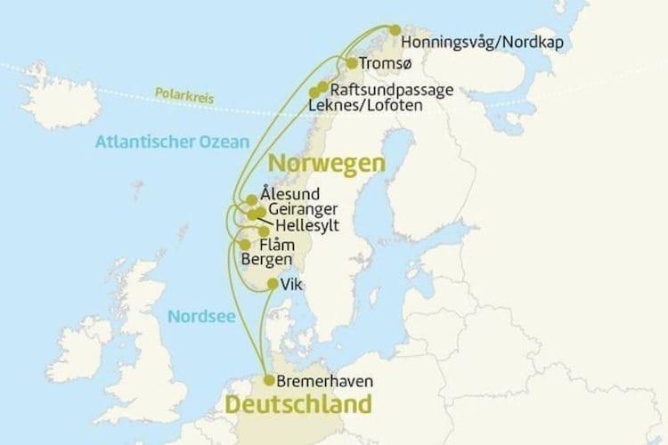 MS Astor Norwegen Kreuzfahrt mit Nordkap / ©Berge & Meer