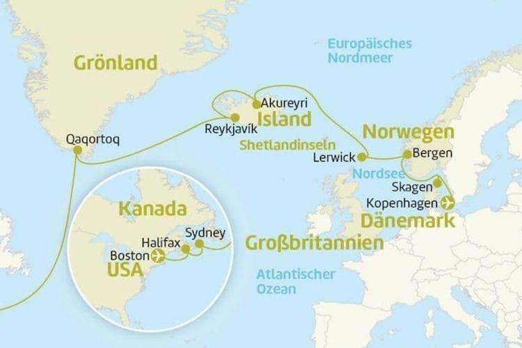 Serenade of the Seas: Von Kopenhagen nach Boston / © Berge & Meer