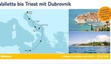 Mein Schiff 2: 7 Nächte Valetta bis Triest mit Dubrovnik inklusive AI und Flug