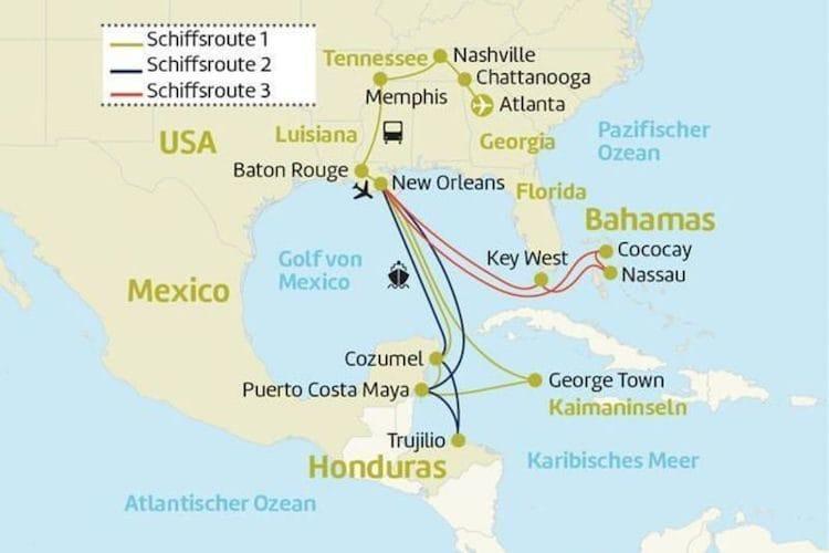 Vision of the Seas : USA, Karibik und Südstaaten / © Berge & Meer