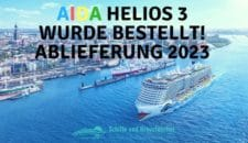 AIDA Neubau 2023: AIDA bekommt drittes LNG-Kreuzfahrtschiff von der Meyer Werft
