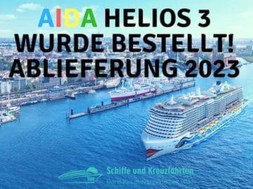 AIDA Helios Neubau 2023 - weiterer Neubau für AIDA Cruises von der Meyer Werft