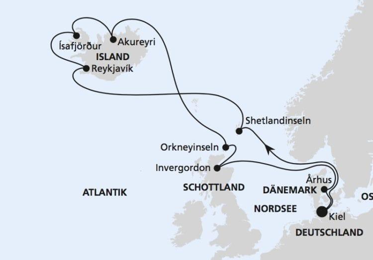 AIDAbella: Nordische Inseln mit Island / ©AIDA Cruises