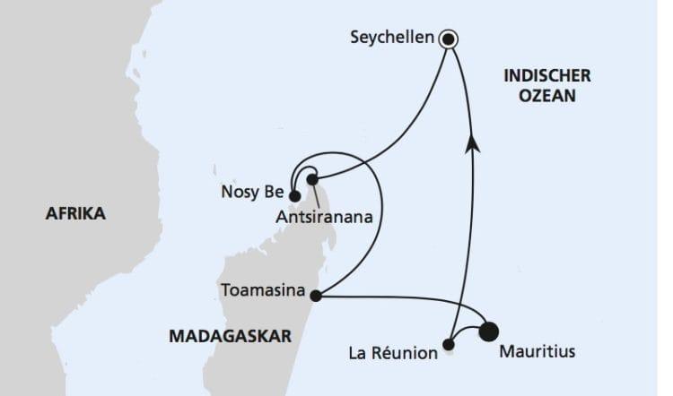 AIDAblu: Mauritius, Seychellen und Madagaskar / ©AIDA Cruises