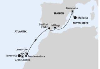 AIDAnova: Von Teneriffa nach Mallorca 3 / ©AIDA Cruises