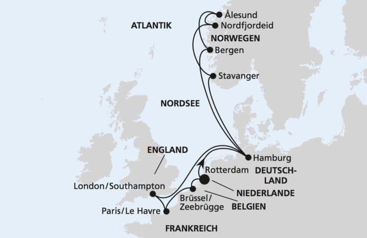 AIDAperla Metropolen & Norwegen ab Rotterdam 1 © AIDA Cruises
