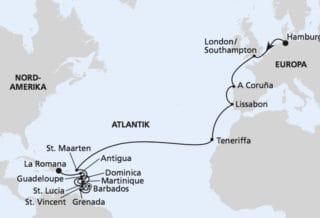 AIDAperla: Von Hamburg in die dominikanische Republik / © AIDA Cruises