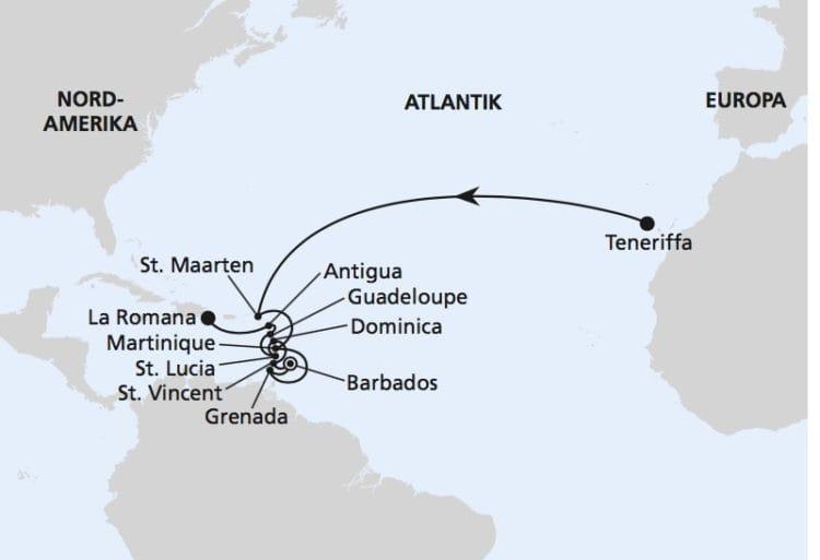 AIDAperla: Von Teneriffa in die dominikanische Republik / ©AIDA Cruises