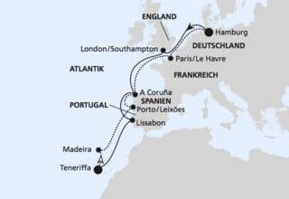 AIDAperla: Westeuropa & Kanaren / ©AIDA Cruises
