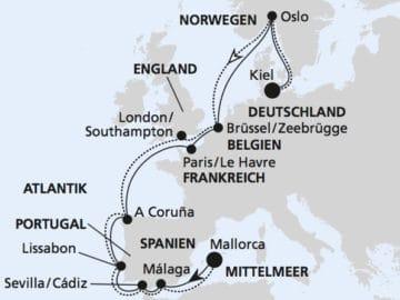 AIDAprima: Europas Westküste / ©AIDAprima