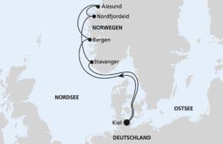AIDAprima Norwegens Küste 2 © AIDA Cruises