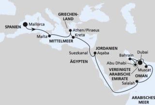AIDAprima: Von Mallorca nach Dubai 5 / ©AIDA Cruises