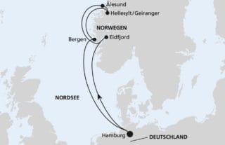 AIDAsol Norwegens Fjorde 4 ab Hamburg © AIDA Cruises