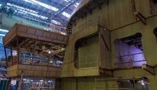 AIDAnova im Bau auf der Meyer Werft: Februar 2018 (Brücke, Heck+ Frontteile)