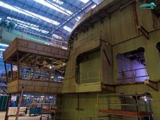 Die Brücke von AIDAnova im Bau auf der Meyer Werft / Februar 2018