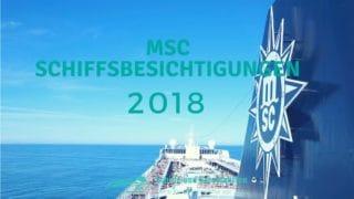 MSC Schiffsbesichtigungen 2018