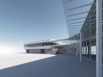 LP28 Kreuzfahrt Terminal in Kiel / © eins:eins Architekten