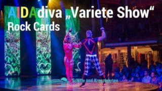 "AIDA Show ""Varieté Rock Cards"" auf AIDAdiva"
