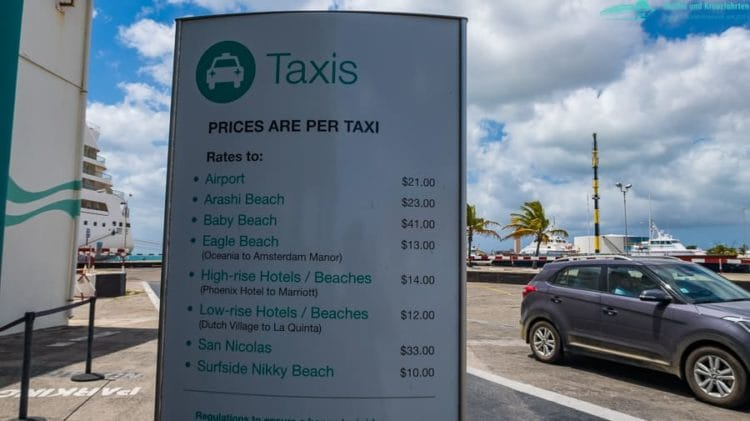 Taxi-Preise Aruba