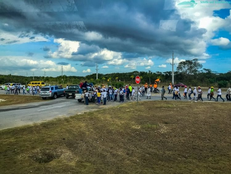 Demonstration in La Romana