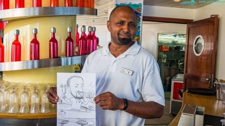 Charles und seine Karikatur