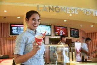 Die Langnese Happiness Station ist nun auch auf AIDAstella zu finden / © AIDA Cruises
