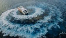FRS Helgoland Fähre verlässt die philippinische Werft in Richtung Hamburg