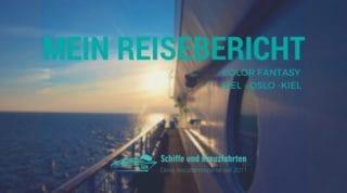 Color Fantasy Reisebericht Kiel-Oslo-Kiel