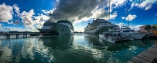 AIDAdiva, Grandeur of the Seas, Costa Pacifica & MSC Opera in St. John's Antigua