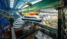AIDAnova: Stahlbau ist fertig – Brücke wurde aufgesetzt auf der Meyer Werft!