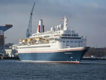 Erstanlauf 2018 der MS Boudicca von Fred Olsen in Kiel