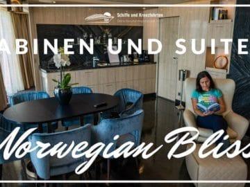 Kabinen und Suiten auf der Norwegian Bliss